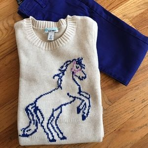 NWT girl's horse sweater